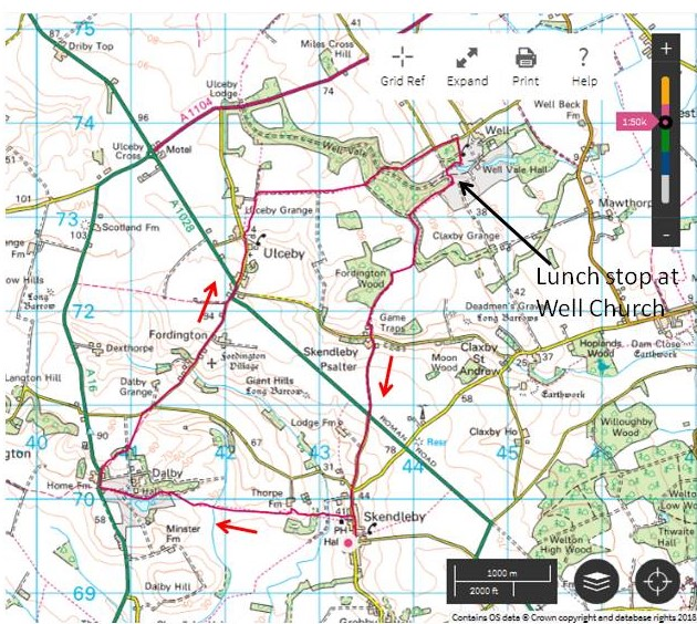 Well Walk Route Map | Ipswich Outdoor Group